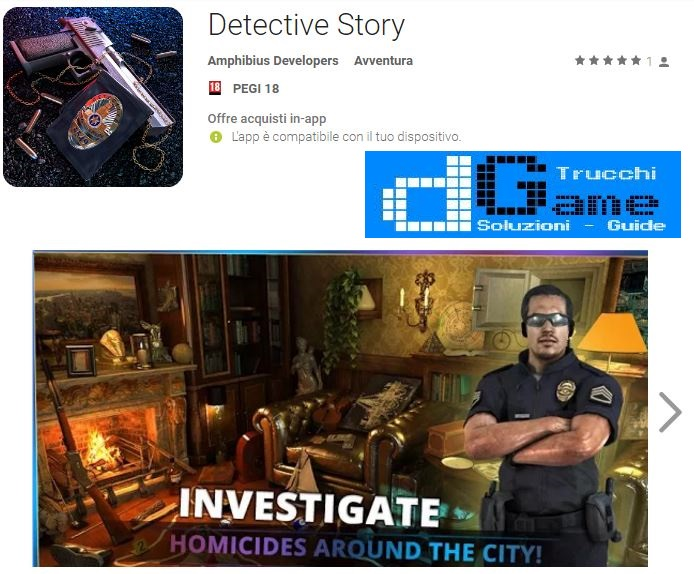 Soluzioni Detective Story livello 11 12 13 14 15 16 17 18 19 20 | Trucchi e Walkthrough level