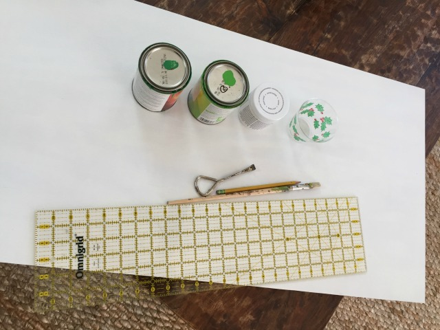supplies to make a large gingham painting