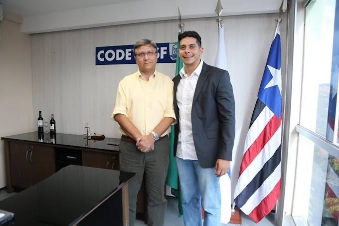 Vice-prefeito de Caxias se reúne com superintendente da CODEVASF em São Luís