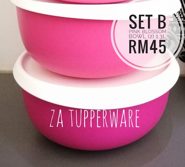 Tupperware Pretty In Pink Blossom Bowl Set (2) 1.3L