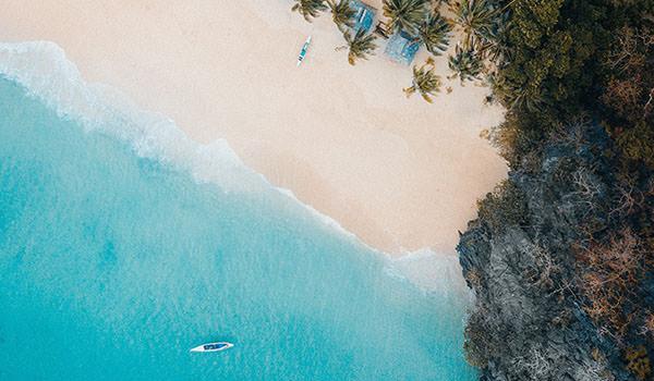Pinkish Beach in El Nido, Philippines