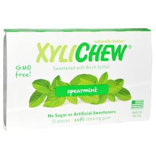 لبان بنكهة النعناع ( حاليا غير متوفر )  Xylichew Gum, Sweetened with Birch Xylitol, Spearmint, 12 Pieces