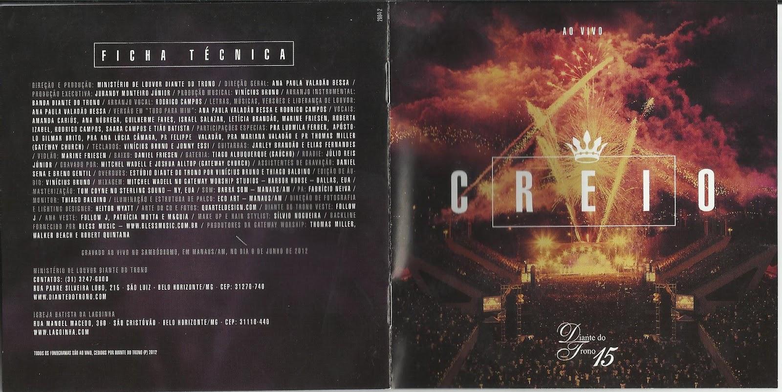 cd creio diante do trono 2012 gratis