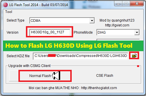 How to Flash LG H630D (LG G4 Stylus) Using LG Flash Tool