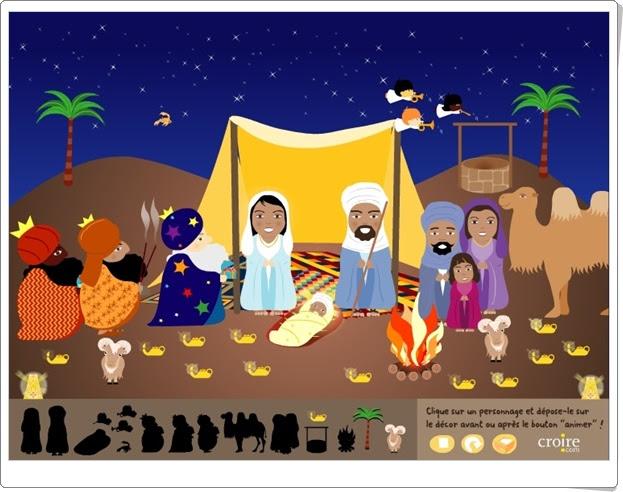 """""""El gran Belén de Navidad"""" (En el desierto). Belén para componer y animar."""