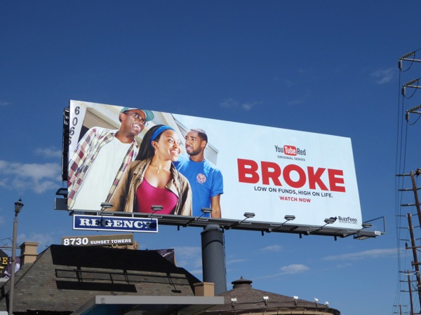 Broke YouTube Red series billboard