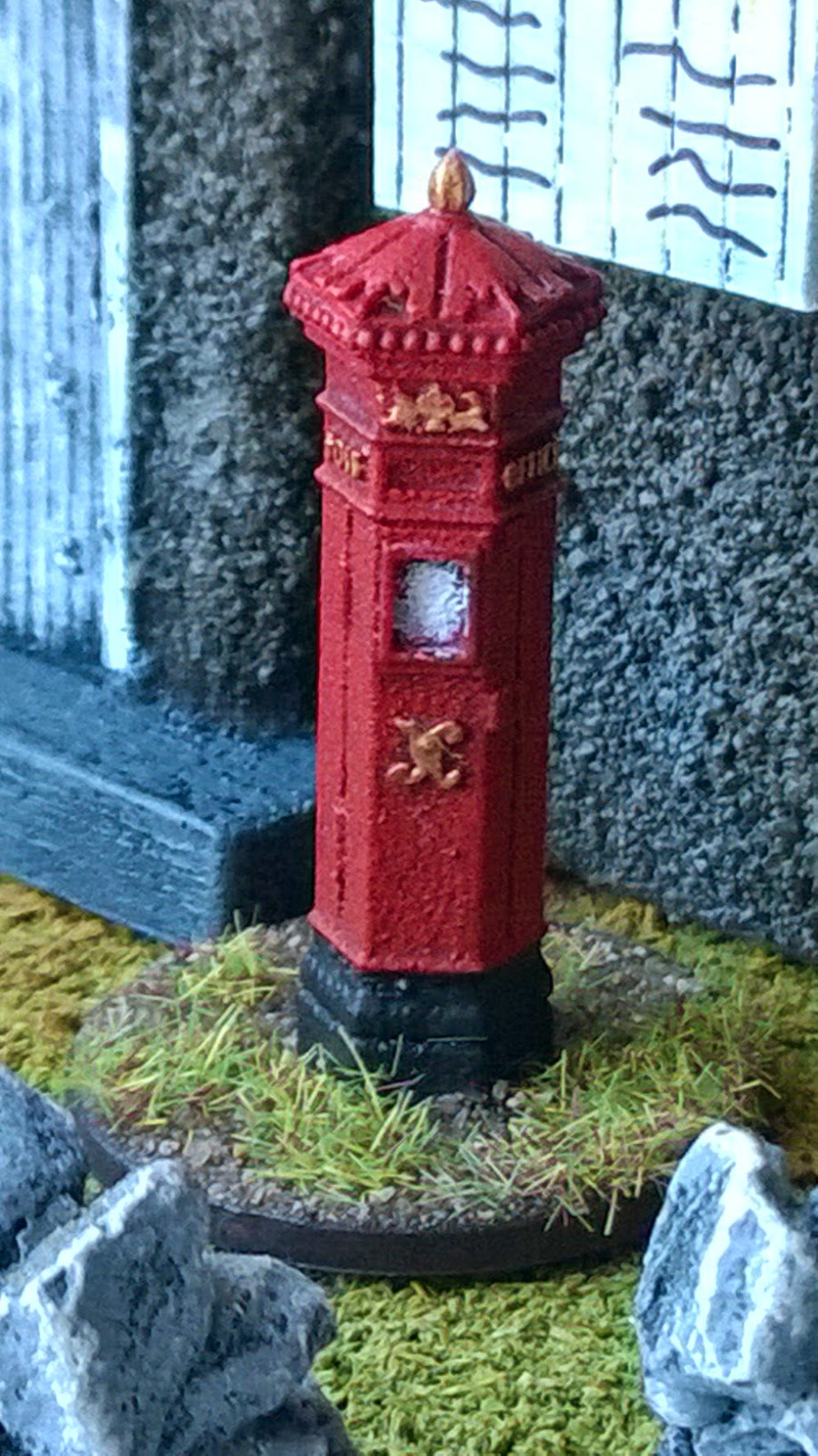 vbcw victorian postbox scenery