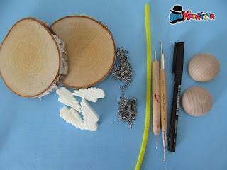 personalizzare dei dischi di legno per natale