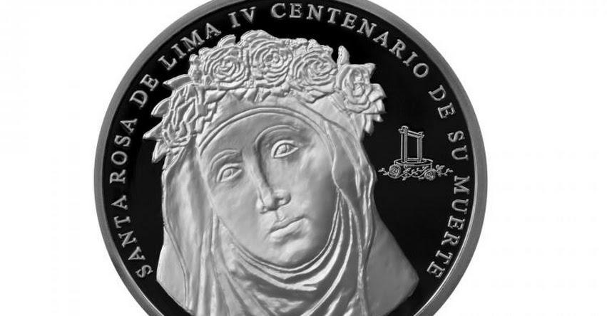 BCR: Emiten moneda de plata alusiva a IV Centenario de Muerte de Santa Rosa - www.bcrp.gob.pe