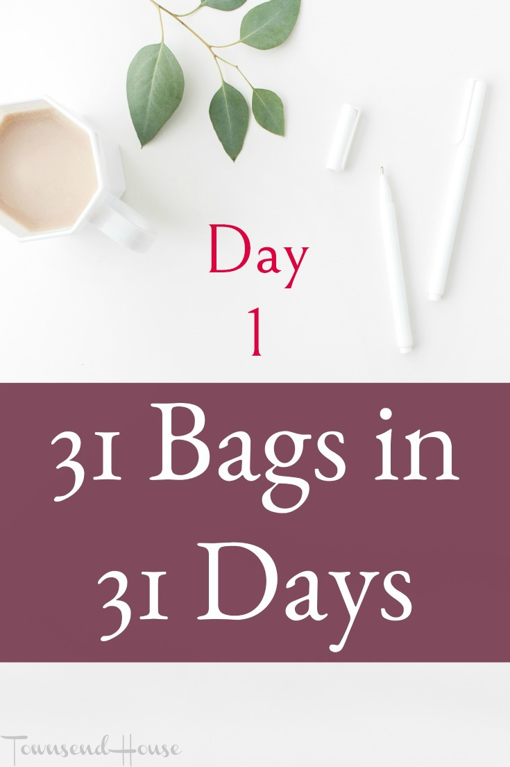 Get rid of 31 Bags of *stuff* in 31 Days - Day 1