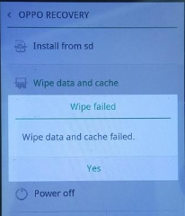 Wipe Data Failed Oppo R1001