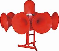 Outdoor siren LK-STH10H with 10 horns