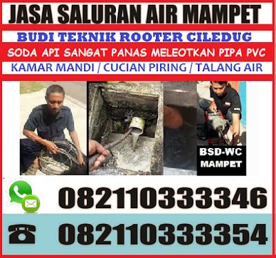 perbaikan saluran air wc mampet