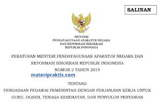 Peraturan Menpan Nomor 2 tahun 2019 Tentang Pengadaan PPPK