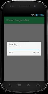 adalah satu widget yang berkhasiat untuk menampilkan suatu pemrosesan  Cara Menerapkan Contoh Widget ProgressBar Android