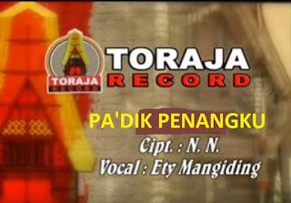 Lirik Lagu Toraja Pa'dik Penangku (Ety Mangiding)