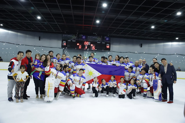 PH Ice Hockey Team concludes their first match of the year at SM Skating Mall of Asia