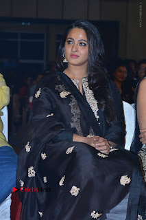 Actress Anushka Anushka Shetty Stills in Black Salwar Kameez at Om Namo Venkatesaya Audio Launch Event  0023.JPG