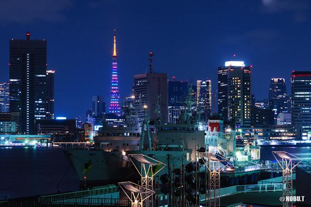 東京タワーの「東京マラソン2017」特別ライティング