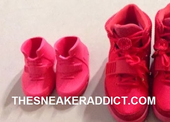 Celeb Sneaker Game: Nike Air Yeezy 2 Red October Baby Shoes