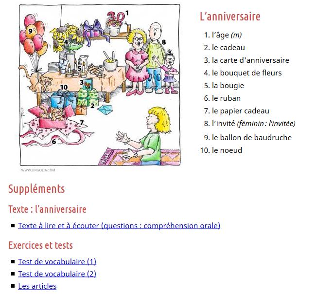 https://francais.lingolia.com/fr/vocabulaire/jours-de-fetes/lanniversaire