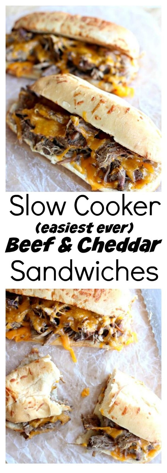 Slow Cooker Beef And Cheddar Sandwiches