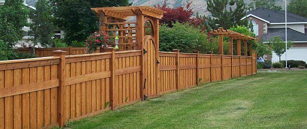 wood fence design. Black Bedroom Furniture Sets. Home Design Ideas