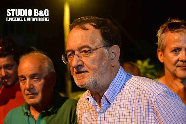 Ο πρόεδρος της ΛΑ.Ε. Π. Λαφαζάνης στο Άργος για τις προσαγωγές - Τι είπε ο Π. Κοκκινόπουλος (βίντεο)