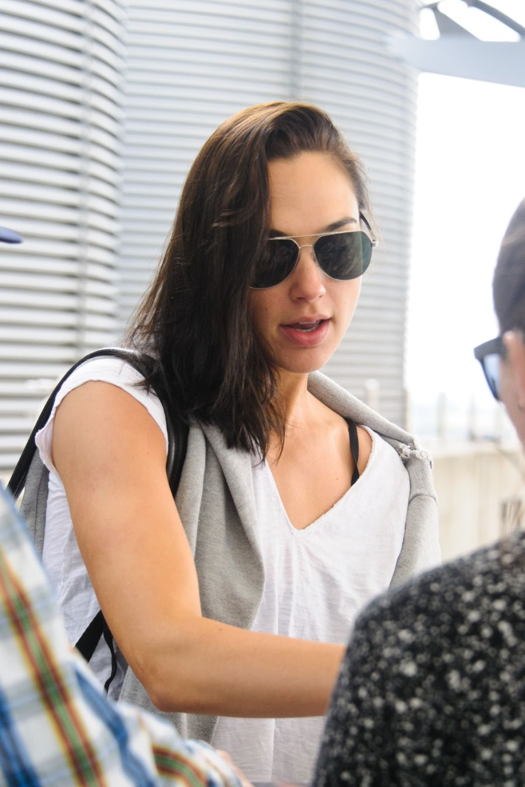 Gal Gadot At Heathrow Airport In London