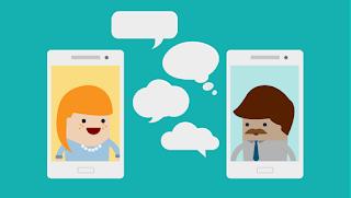 komunikasi online daring