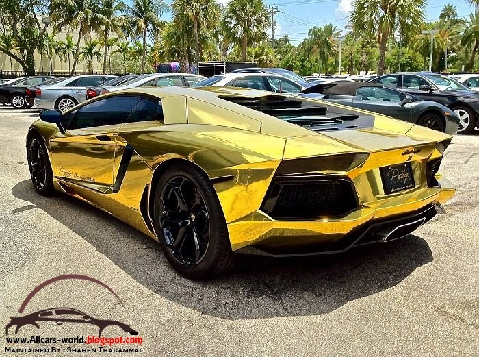 Automotive News Lamborghini Aventador Wrapped In Gold Chrome