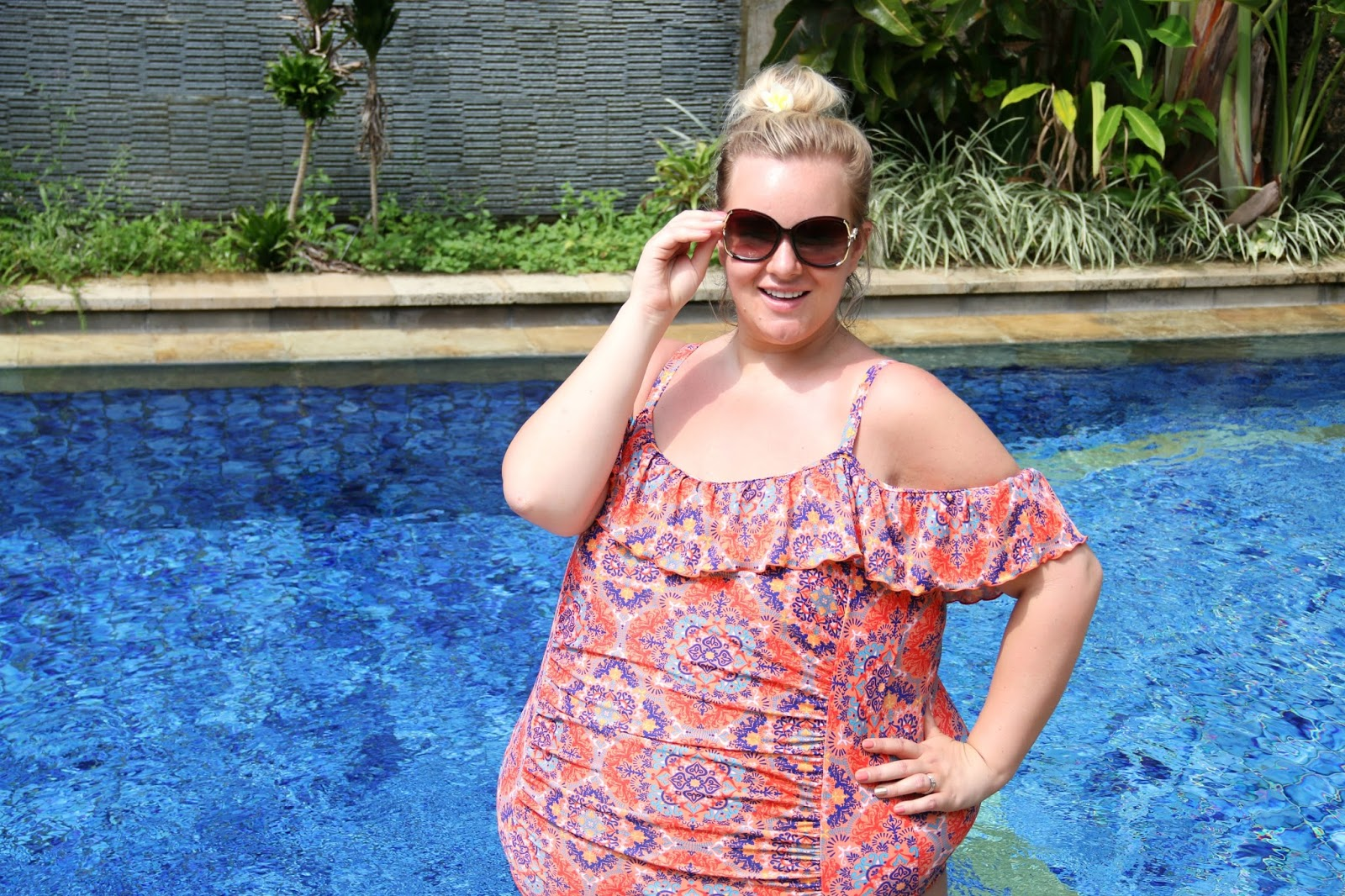 Plus Size Bardot Swimsuit You NEED This Summer from Yours Clothing
