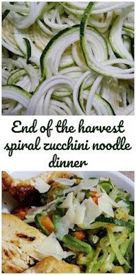 Spiral vegetable dinner