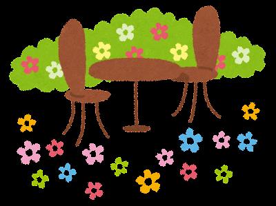 ガーデニングのイラスト「花の庭」