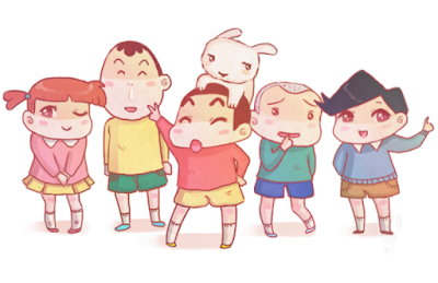 Crayon Shin Chan and Friends family cute wallpapers 4K Ultra HD with pet