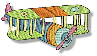 Embroidered Images of  Vehicles.