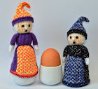 Halloween Witches Doll Egg Cosy Knitting Pattern