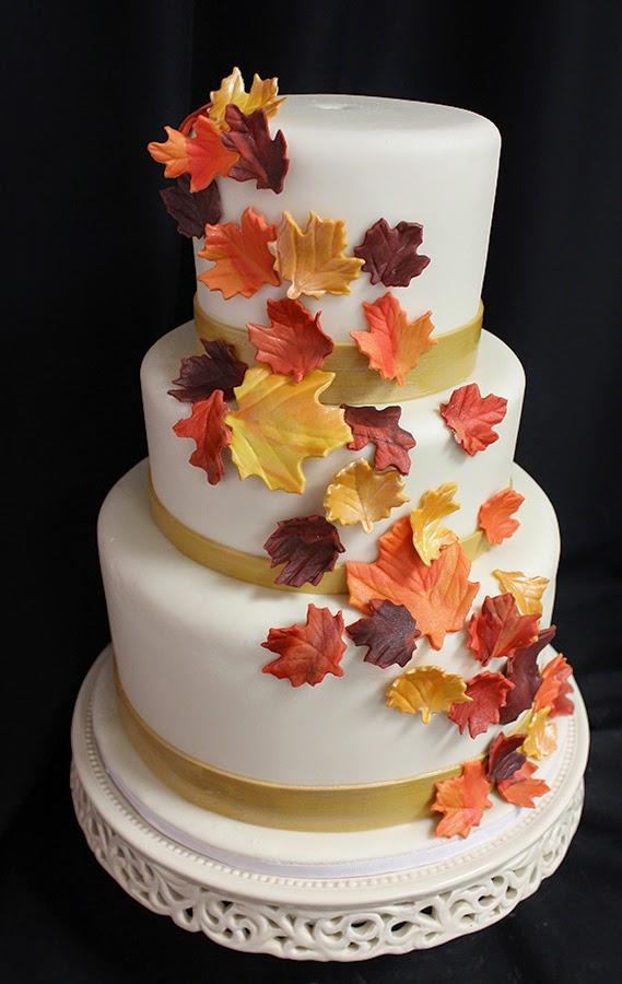 Cake Decorating Silver Leaves