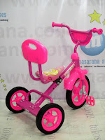 Sepeda Roda Tiga BMX PMB 919S-P Safari Sandaran Pink