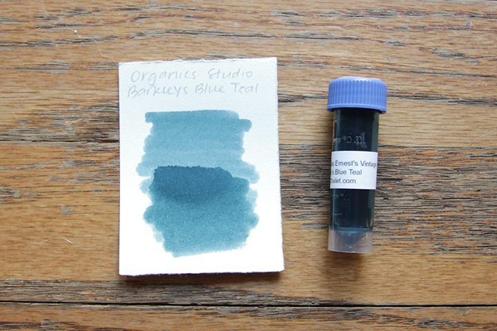 review: organics studio ernest's vintage writing fluid barkley's blue teal