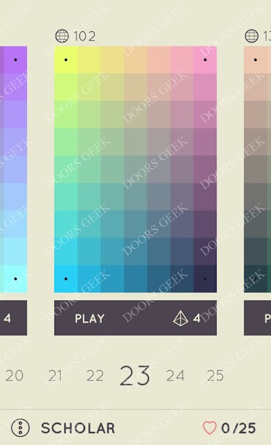 I Love Hue Scholar Level 23 Solution, Cheats, Walkthrough