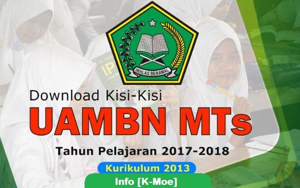 Kisi-Kisi UAMBN MTS dan MA Tahun 2018 Terbaru (Tahun Pelajaran 2017/2018)