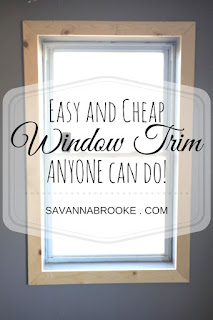 Easy and cheap window trim