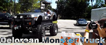 Delorean Monster Truck - Roads? Where we're going, we don't need roads ... ( 1 Video )