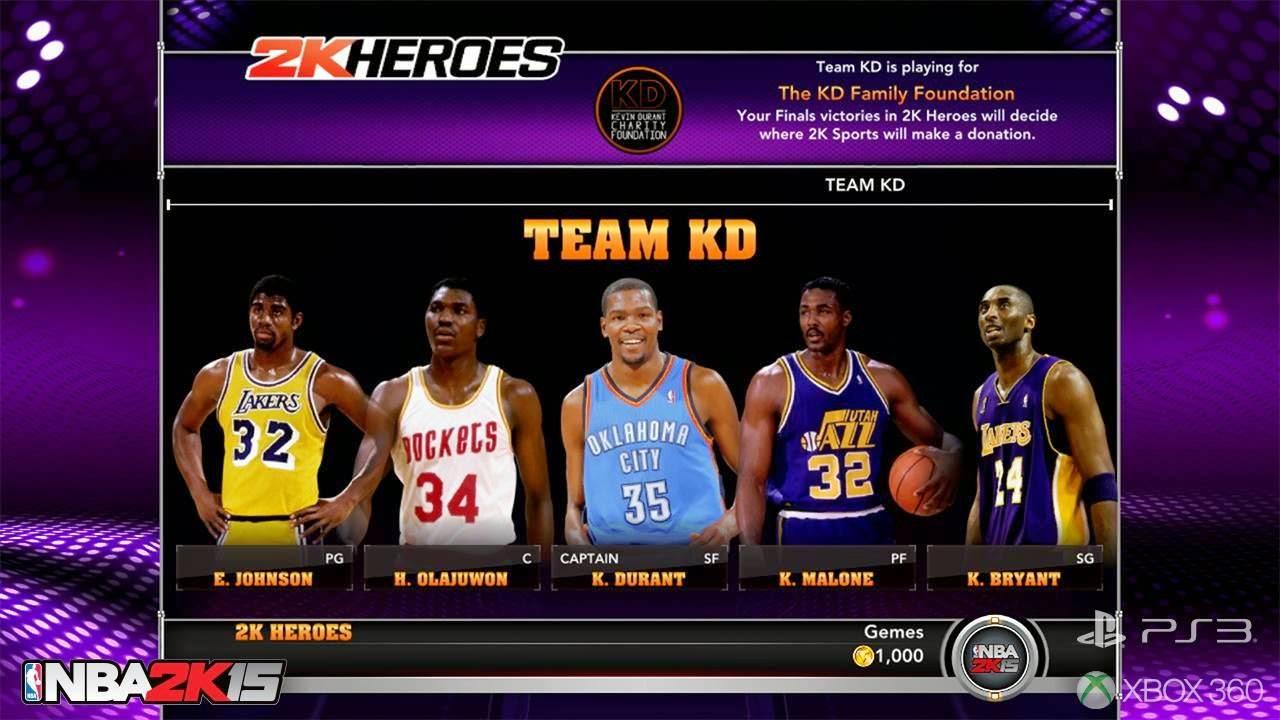 NBA 2k15 2k Heroes Mode : Team KD