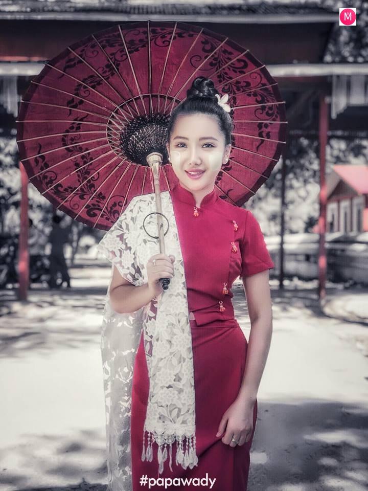 Su Eaint San In Sagaing - Beautiful Myanmar Outfit