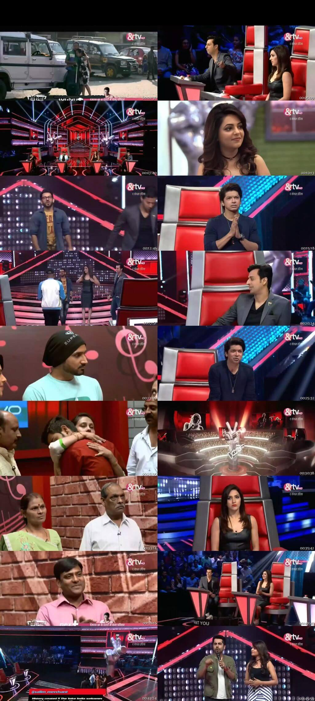 Screenshots Of Hindi Show The Voice India Season 2 8th January 2016 Episode 10 300MB 480P HD