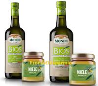 Logo Concorso ''Le Api e l'Olio'' : vinci forniture annuali Olio EVO Bios Monini e Miele Agricoltura Biologica