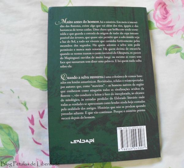 Resenha, livro, Quando-a-selva-sussurra, contos amazônicos, editora Selo Lendari