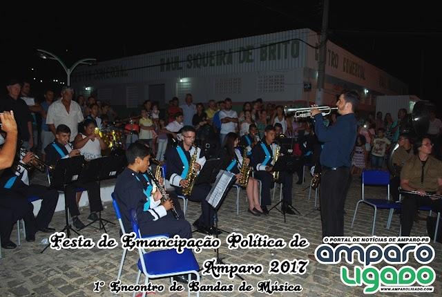 Prefeitura Municipal de Amparo sediou seu 1º encontro de Bandas de Músicas
